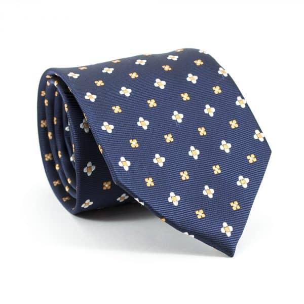 Biznis modrá kravata hodvábna