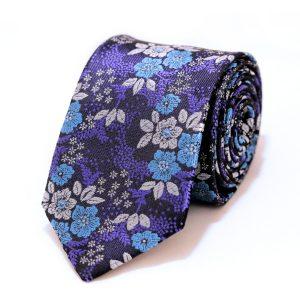 Hodvábna pánska kravata fialová