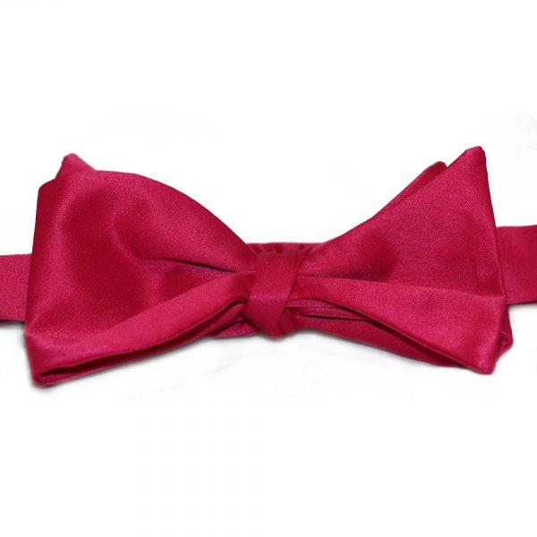 Ružový pánsky viazací motýlik Silk