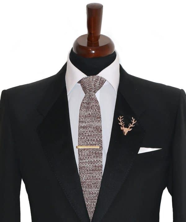 Svetlo hnedá vlnená kravata