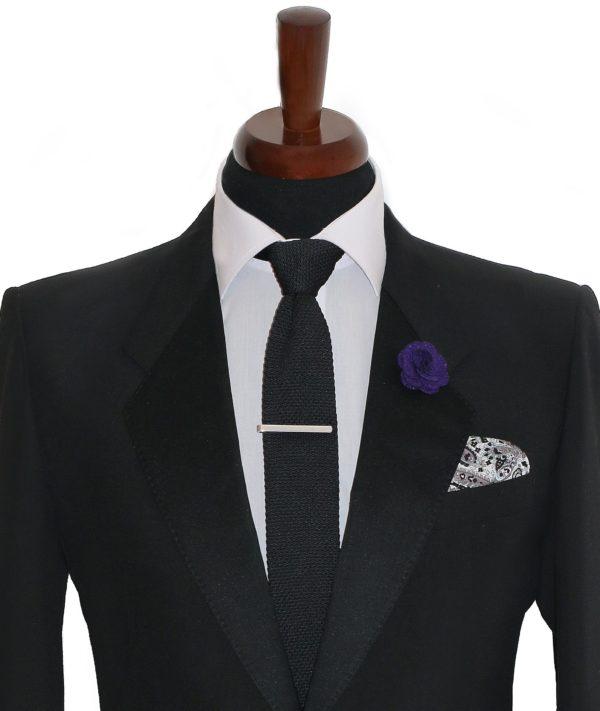 Strieborná spona na kravatu