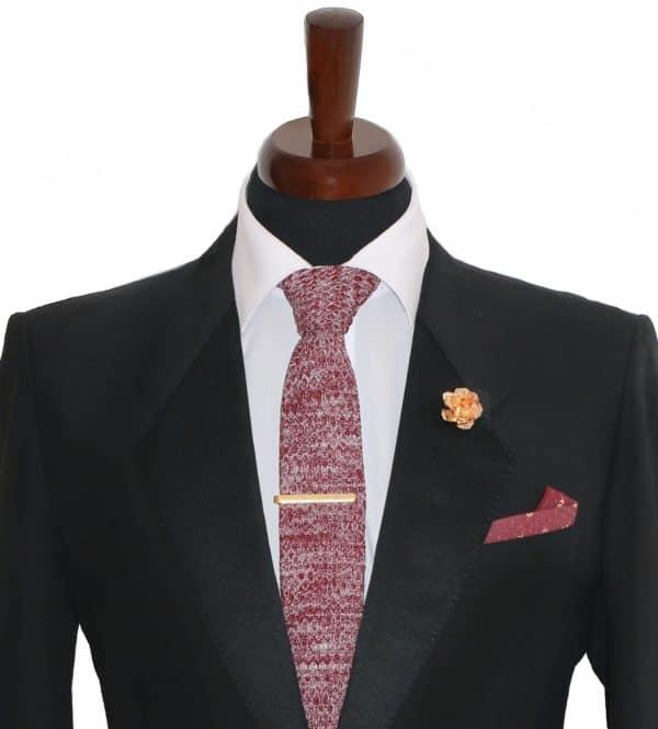 Bordová vlnená kravata