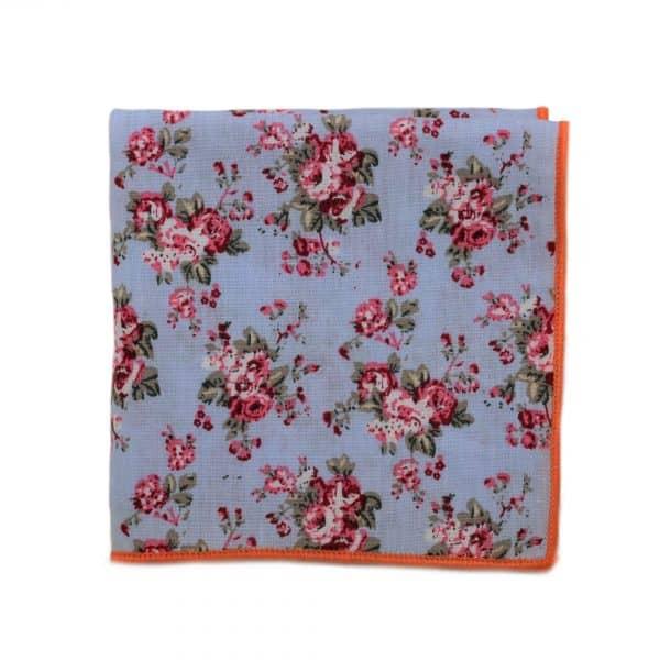 Modrofialová kvetovaná vreckovka