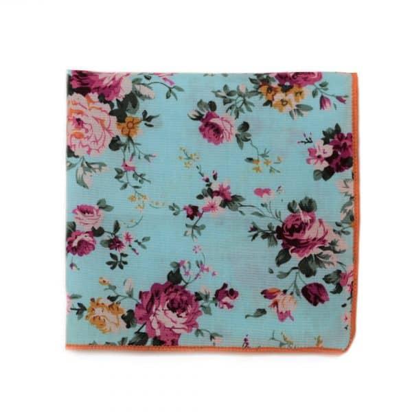 Tyrkysová vreckovka s kvetmi