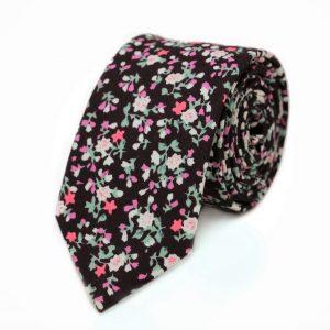 Vínová kravata kvetovaná