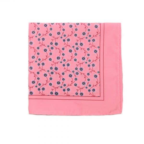 Svetlo ružová vreckovka vzorovaná Paisley