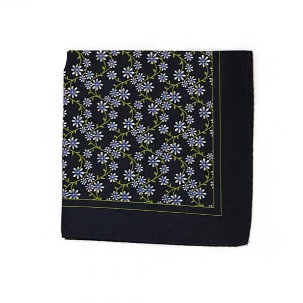Modrá vreckovka kvetovaná Paisley