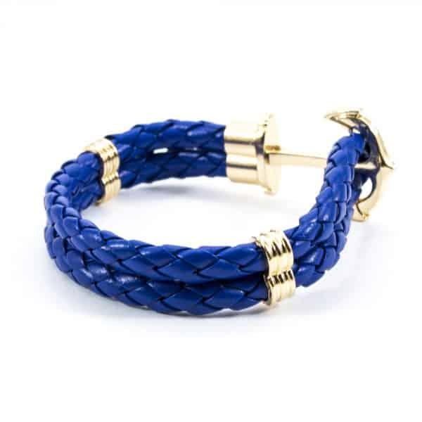 Modrý náramok Anchor Gold