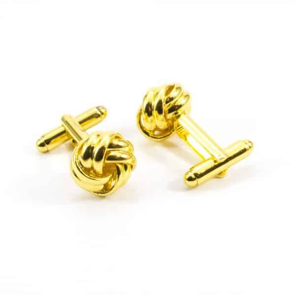 Zlaté manžetové gombíky Glossy