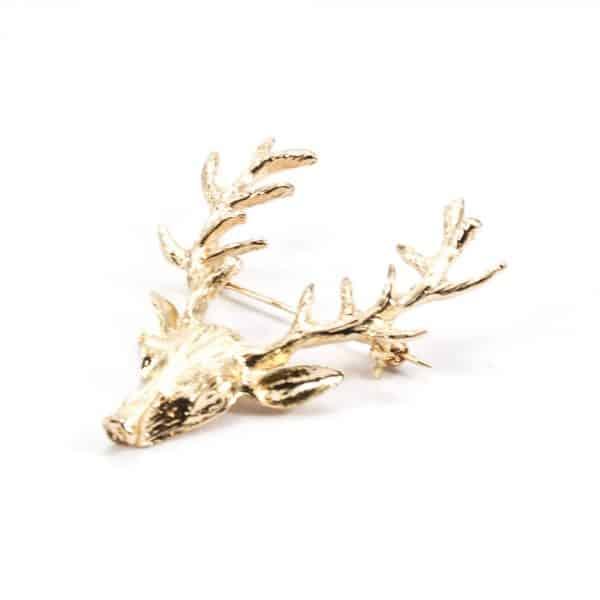 Zlatá brošňa do klopy Jeleň