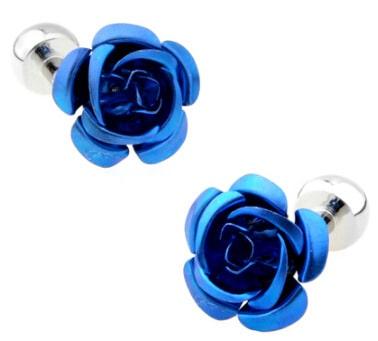 Modré manžetové gombíky Roses