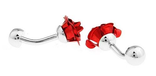 Ružové manžetové gombíky Roses