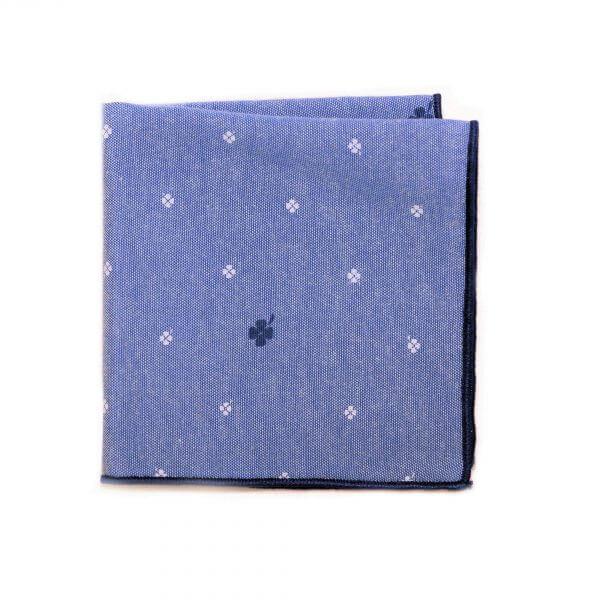 Modrá bavlnená vreckovka