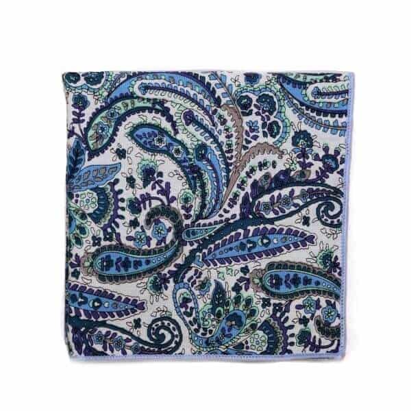 Modrá vzorovaná vreckovka