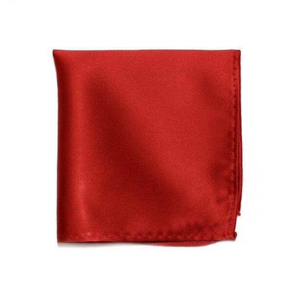 Červená hodvábna vreckovka