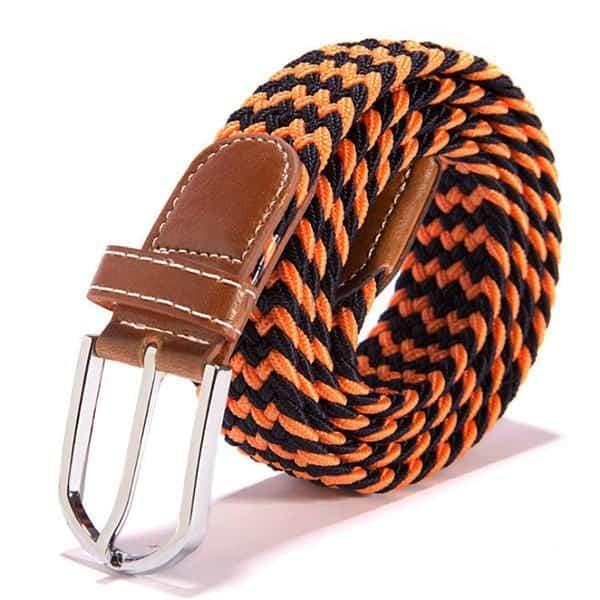Oranžový elastický opasok vzorovaný