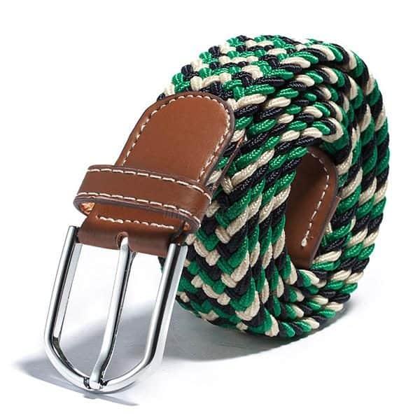 Zelený elastický opasok vzorovaný