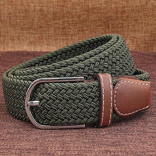 Zelený elastický opasok