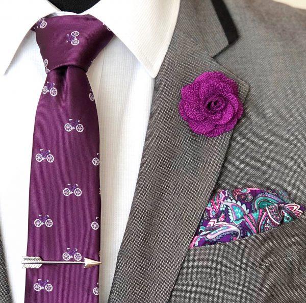Bicycle Violet Tie Box